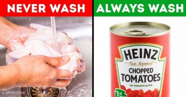 5 أطعمة لا يجب أبداً غسلها.. بعضها سيصدمك
