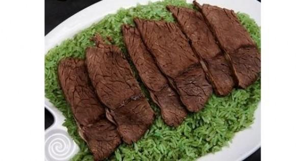 الرز الأخضر مع اللحم