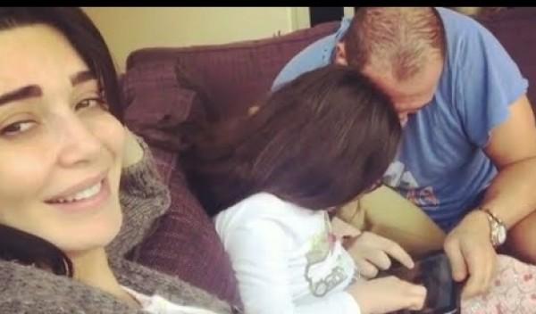 الفنانة سيرين عبد البنور تنشر فيديو لزوجها وابنتها..والجمهور يعلق