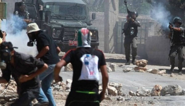 اصابة أربعة مواطنين بأعيرة مطاطية جنوب نابلس