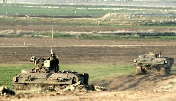ست آليات للاحتلال تتوغل في أراضي المواطنين شمال بيت لاهيا