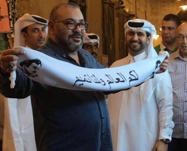 ملك المغرب خلال زيارته لقطر: لكم العالم ولنا تميم