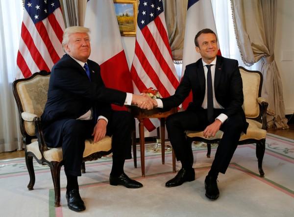 ترامب وماكرون يتفقان على محاربة إيران وحزب الله