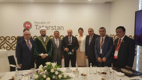 الهباش يبحث مع رئيس جمهورية تترستان آفاق التعاون المشترك