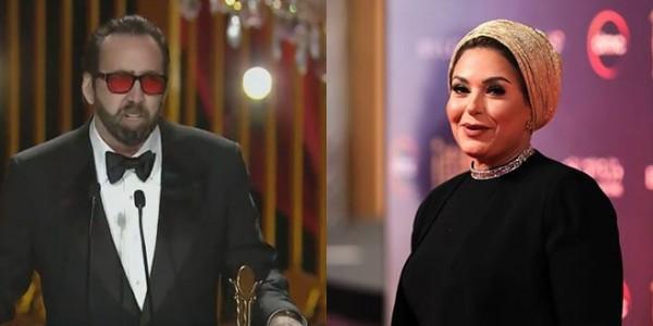 سيلفي صابرين مع نيكولاس كيدج تثير سخرية المصريين وهي ترد