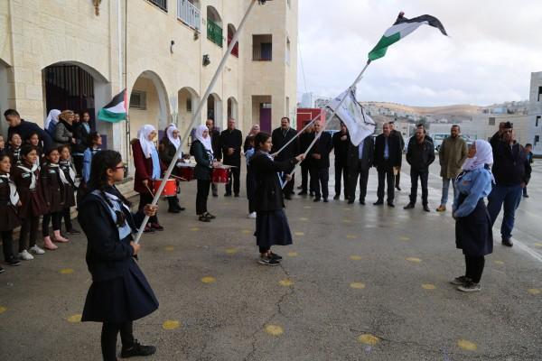 بالصور: الغضب يعم مدارس الوطن احتجاجاً على موقف أمريكا من القدس