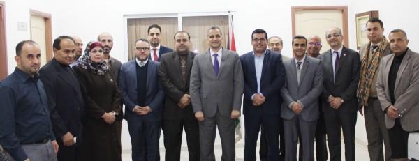 وزير الاتصالات يلتقي ممثلي قطاع الاتصالات وتكنولوجيا المعلومات بغزة