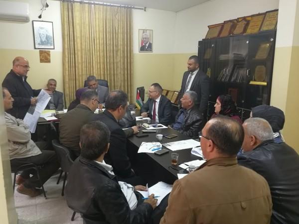 اللجنة الإقليمية للتخطيط والبناء في جنين تعقد جلستها رقم 33/2017