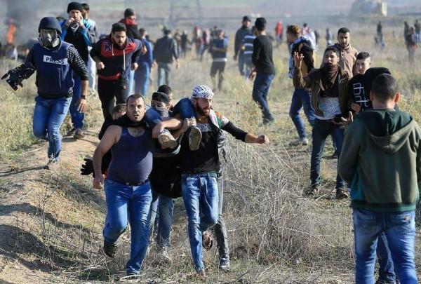 25 إصابة خلال مواجهات مع الاحتلال شرقي قطاع غزة