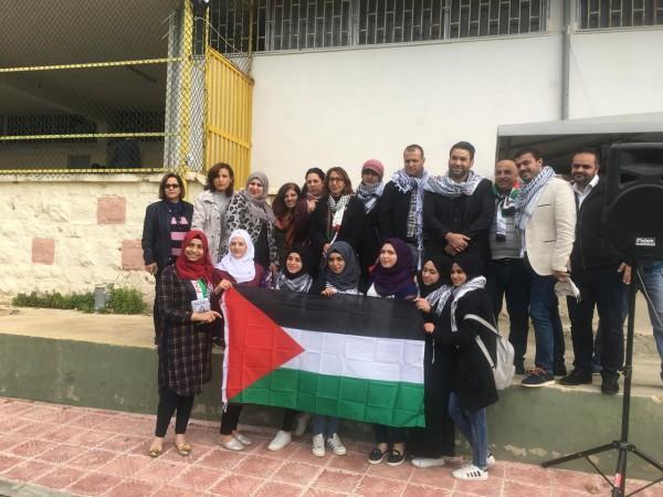 إعتصام تضامني مع القدس في كلية تدريب سبلين