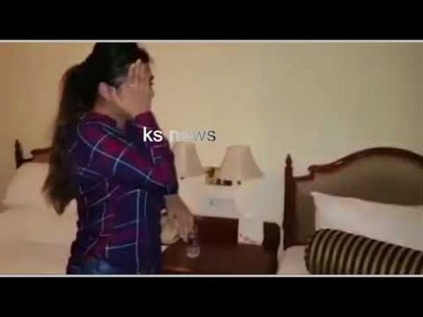 شاهد لحظة القبض على ممثلة هندية أثناء ممارستها الدعارة
