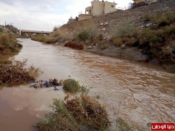 أمطار الخير تزيد من غلة مياه الاودية في الاغوار  9998870124
