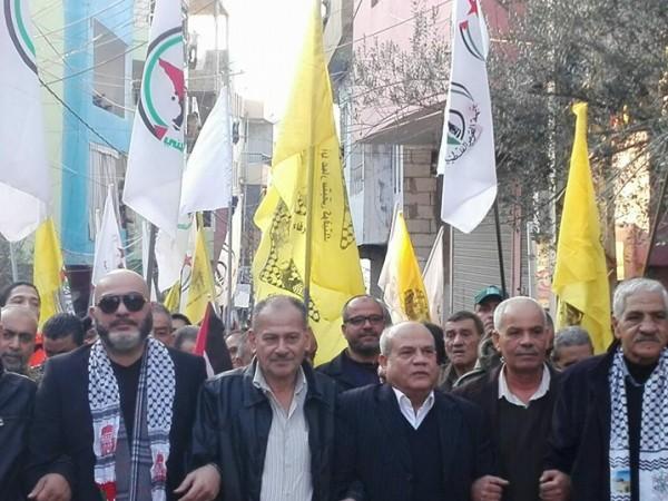 جبهة التحرير الفلسطينية تشارك بمسيرة يوم الشهيد الفلسطيني بالبرج الشمالي