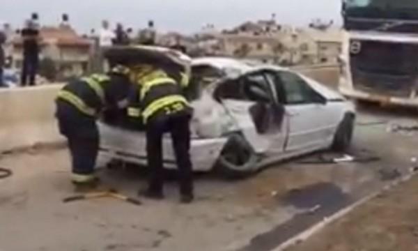 فيديو: إصابة خطيرة في حادث طرق بكفر قاسم