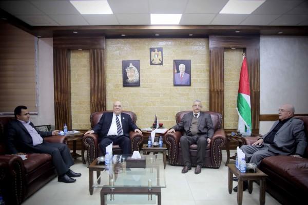 محافظ طولكرم يستقبل رئيس مجلس إدارة بنك القدس