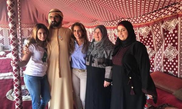 الأميرة هيا تستضيف والدة الشهيد معاذ الكساسبة وزوجته في دبي