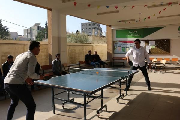 """جامعة الإسراء تختتم بطولة """"القدس عاصمتنا """" لكرة الطاولة لموظفيها"""