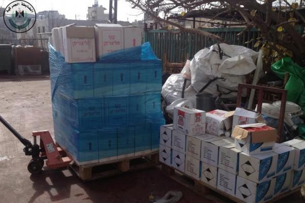 إتلاف كمية دهان ومستلزماته منتهية الصلاحية في محافظة بيت لحم