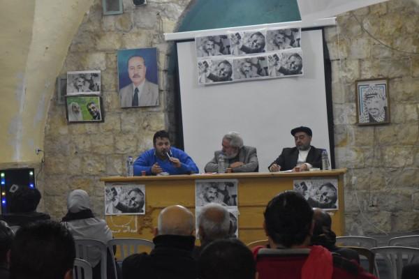 """شباب البلد عرابة ينظمون ندوة بعنوان """"فلسطين بين الناصر والحكيم"""""""