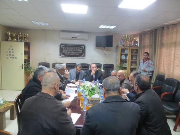 اللجنة الإقليمية للتخطيط والبناء في جنين تعقد جلستها 2/2018