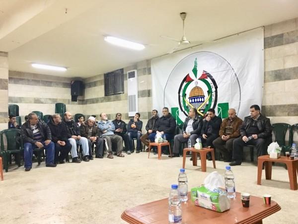 """حماس تقبل التعازي بالراحل """"عماد العلمي"""" في لبنان"""