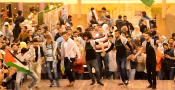 فيديو: الجالية الفلسطينية في الأردن تنظم فقرة دبكة بجامعة العلوم