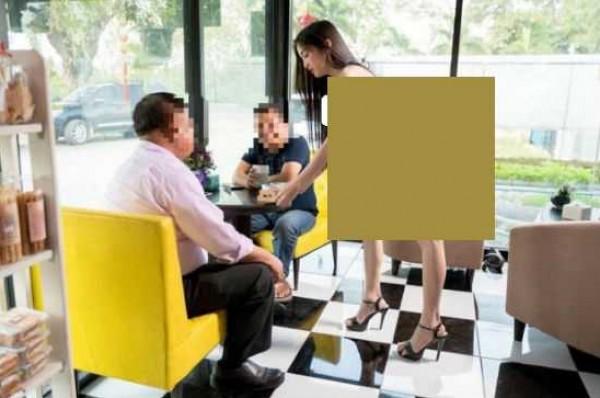 بالصور التايلاند إغلاق مقهى استعان بنادلات عاريات للدعاية الترويجية