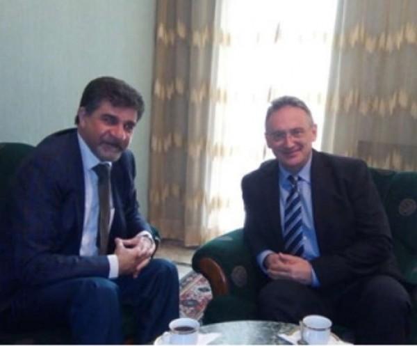 السفير عبد الهادي يبحث مع نظيره الروسي المستجدات السياسية