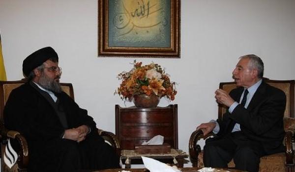 """حواتمة: اتفقنا مع """"نصر الله"""" على الرد المشترك على اعتداءات إسرائيل"""