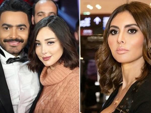 شاهد مريم حسين بعدما منعتها زوجة تامر حسني من اخذ صورة معه