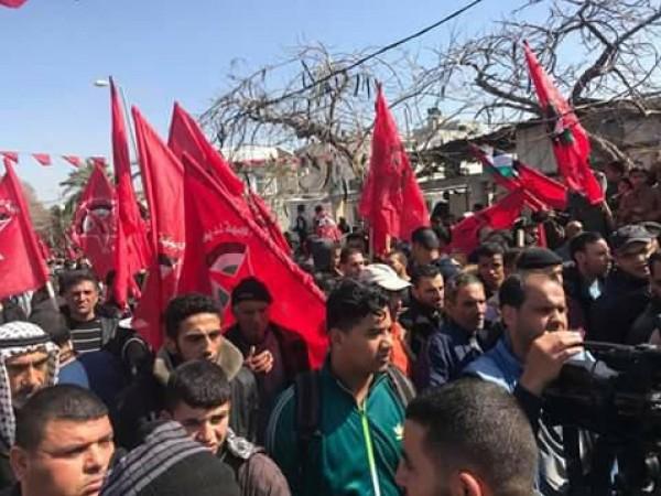 الأمانة العامة للتجمع الفلسطيني تشارك بانطلاقة الجبهة الديمقراطية