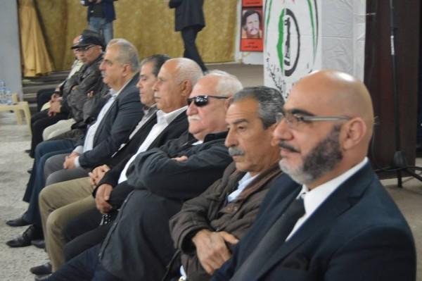 جبهة التحرير الفلسطينية تحيي ذكرى أبو العباس في مخيم البص