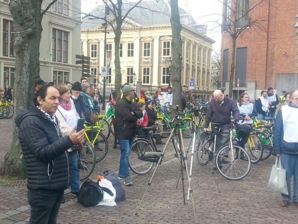 صور: مسيرة بالدراجات الهوائية دعمًا لفلسطين في هولندا