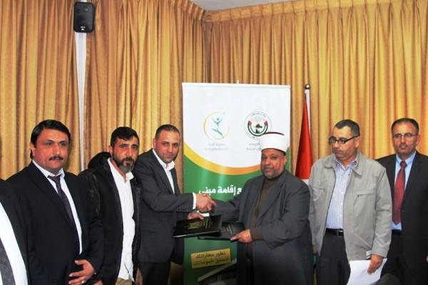 """""""الأوقاف"""" وجمعية الرجاء للتنمية توقعان اتفاقية لإقامة مبنى رياضي في بيت حنينا"""