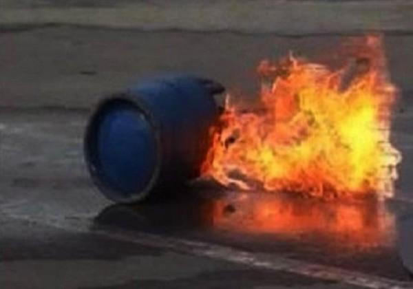 انفجار اسطوانة غاز بعد سقوطها من سيارة في بيت لحم