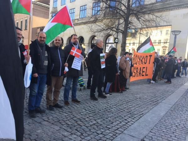 وقفة احتجاجية في كوبنهاغن للتنديد بقمع الاحتلال لمسيرة العودة