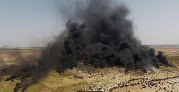 شاهد: ثمانية شهداء و1356 إصابة بجمعة (الكوشوك) على الحدود قطاع غزة