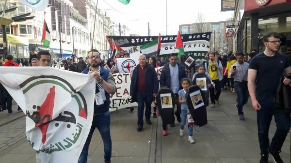 صور: وقفة احتجاجية في مانشستر تضامناً مع مسيرة العودة الكبرى