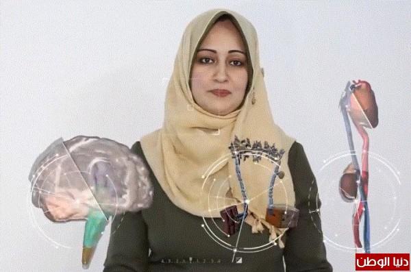 فيديو: (تجسيم).. تطبيق تفاعلي تبتكره معلمة من غزة لطلاب الصف السابع