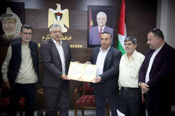 أبو بكر يَتسلم رسالة دعم للرئيس محمود عباس من مؤسسات الإتحاد الوطني