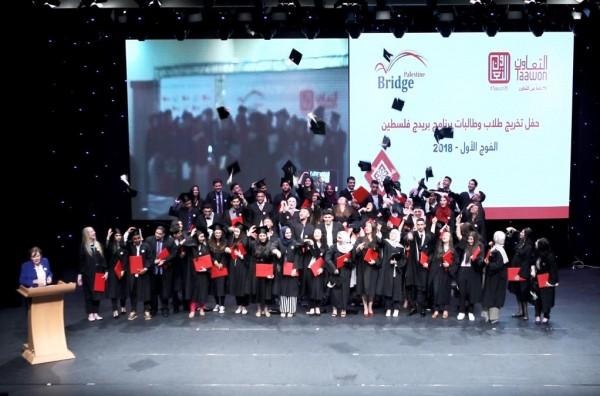 مؤسسة التعاون تُخرج الفوج الأول من طلبة (بريدج فلسطين)
