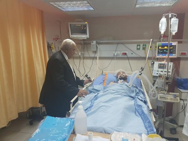"""أبو شهلا: الأطباء لديهم أمل كبير بتحسن حالة الصحفي """"أبو حسين"""""""