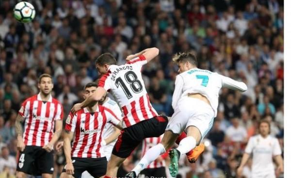 كعب رونالدو ينقد ريال مدريد أمام بيلباو