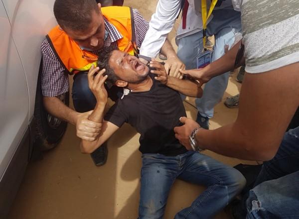 صور: الاحتلال يستهدف الصحفيين شرق خان يونس ويصيب ثلاثة