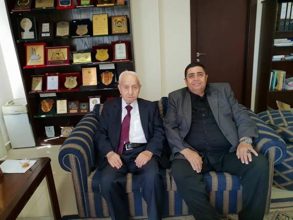 اللواء النتشة يلتقي أمين القدس الحاج زكي الغول