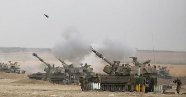 المدفعية الإسرائيلية تستهدف نقاط رصد للمقاومة الفلسطينية
