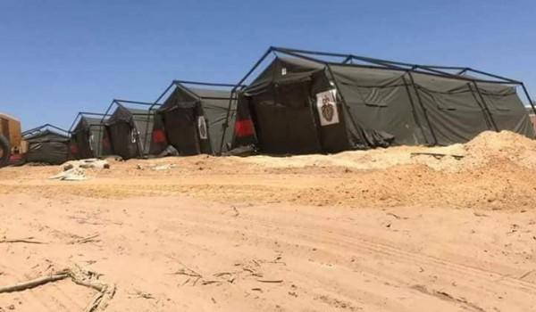 صور: إنشاء المستشفى الميداني المغربي غرب مدينة غزة