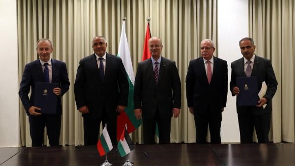 الحمد الله ونظيره البلغاري يبحثان آخر التطورات السياسية والتعاون المشترك