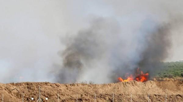 اندلاع 11 حريقاً بمستوطنات غلاف غزة بفعل الطائرات الورقية والبالونات الحارقة