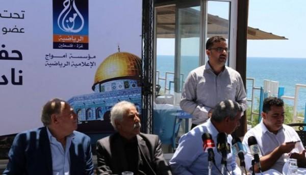 محافظ غزة يشارك في استقبال بعثة نادي (هلال القدس)